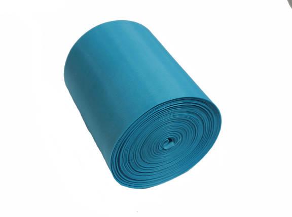 Лента шелковая голубая 10см, фото 2