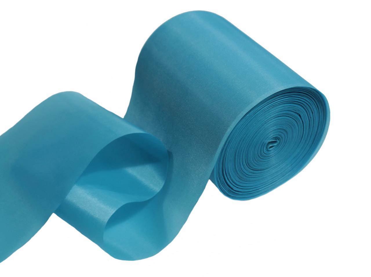 Лента шелковая голубая 10см