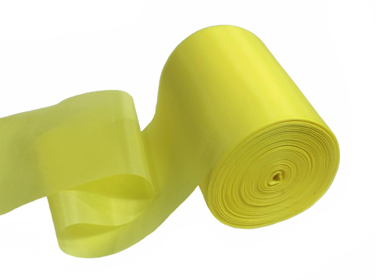 Лента шелковая лимонная 10см