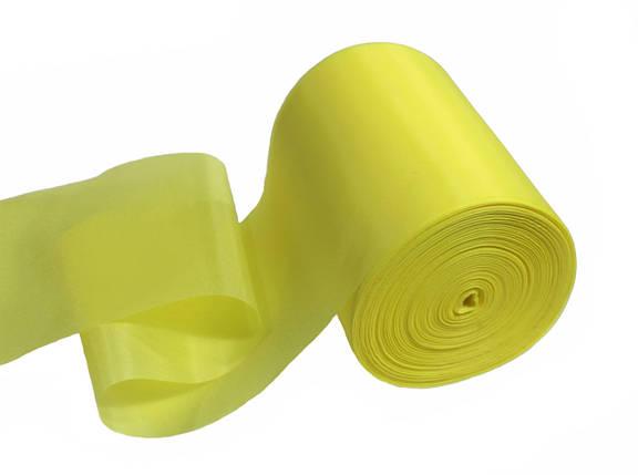 Лента шелковая лимонная 10см, фото 2