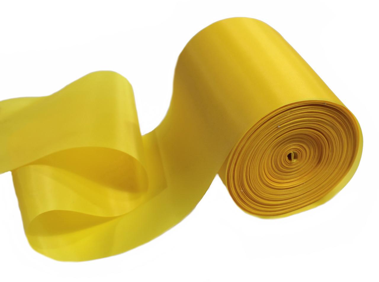 Лента шелковая желтая 10см