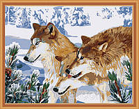 """Набор для рисования по номерам """"Волчья стая"""", MG205, 40х50см., фото 1"""
