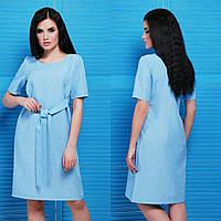 Женское шикарное льняное платье + большие размеры (3 цвета)