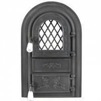 """Дверцы печные со стеклом """"Олени черные"""". Дверцы для кухни, барбекю"""