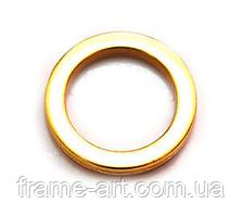 Кольцо 20мм золото 160321