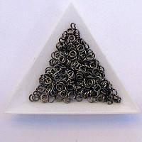 Кольцо для бус 4мм толщина 0,7мм нефть