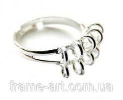 5156 Основа для кольца 7*15мм серебро 1шт