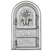 """Дверцы печные со стеклом """"Пальма светлая"""". Дверцы для кухни, барбекю"""