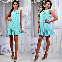 Платье со сборкой на юбке