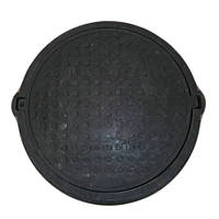 """Люк """"Garden"""" полимерпесчаный черный (12.5т) р.540/750"""