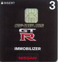 Nissan GTR immo card (EU)