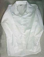Детская школьная белая рубашка с длинным рукавом на мальчиков 10-14 лет Турция