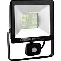 """Светодиодный прожектор LED """"PUMA/S50"""" Horoz 50W 2500Lm (6400K) IP65 с датчиком движения"""