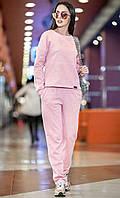 Спортивный костюм с люрексом нежно розовый