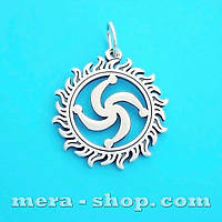 Символ Рода в Солнце серебряный славянский оберег