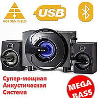 Акустическая система Golden Field Q8 Bl Bluetooth система 2.1 с буфером для прослушивания музыки на компютере