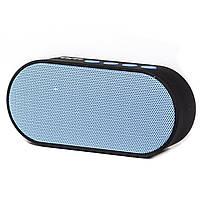 Колонка портативная BL Man mj Bluetooth синяя с возможностью спикера и поддержкки карты памяти музыкальная