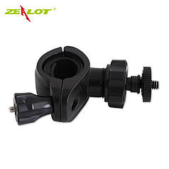Велодержатель ZEALOT S1 черный для фонарика велосипеда велосипедный фонарь прожектор световой эллемент