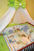 Комплект детского постельного белья 7 в 1 разноцветный, Африка