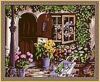 """Картина по номерам """"Уютный цветочный магазин"""", MG017, 40х50см."""