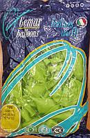 Шарики надувные Италия 26см салатовые 100шт/уп