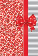 Бумажный подарочный пакет Малый - Красный бант