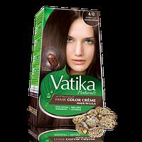 Краска для волос Средний коричневый №4/0 Vatika Naturals,100 мл, Дабур