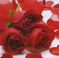 Бумажный подарочный пакет под Чашку - Красные розы