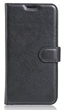 Кожаный чехол-книжка для Asus Zenfone 3 Laser ZC551KL черный
