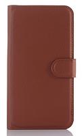 Кожаный чехол-книжка для ASUS ZenFone 2 Laser ZE500KL/ZE500KG коричневый