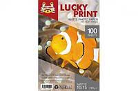 Матовая фотобумага Lucky Print (10*15, 190г/м2), 100 листов для Epson Expression Home XP-323