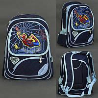 Рюкзак школьный 555-457 (60) 4 отделения, 2 отделения внутри, 3D картинка, спинка ортопедическая