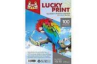Глянцевая фотобумага Lucky Print (10*15, 230 гр/м2), 100 листов для Epson Expression Home XP-342