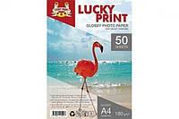 Глянцевая фотобумага Lucky Print (A4, 180г/м2),50листов для Epson Expression Home XP-432