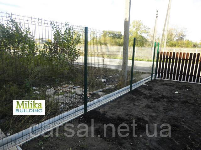 Забор из сварной сетки  Оригинал 3*4 2,5*1.73