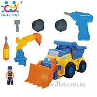 """Игрушка конструктор """"Строительная машина""""  Huile Toys 566AB"""