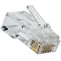 Коннектор RJ-45 UTP сетевой для кабеля типа витая пара для подключения интернета