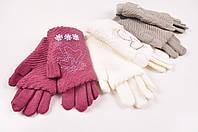 Перчатки женские вязаные с добавлением ангоры с митенкой Корона G7318