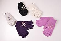 Перчатки женские с добавлением шерсти  Корона G7225