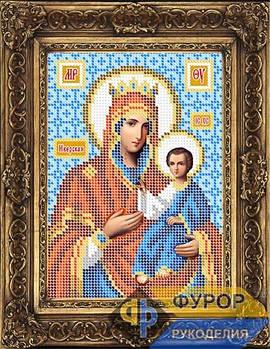 Схема для вышивки бисером иконы Иверская Пресвятая Богородица (ИБ5-089-1)