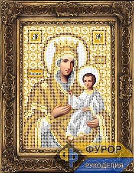 Схема для вышивки бисером иконы Иверская Пресвятая Богородица (ИБ5-089-2)