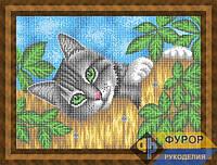 Схема для вышивки бисером - Кот на заборе, Арт. ЖБп3-92