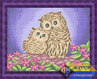 Схема для вышивки бисером - Две совы, Арт. ЖБп3-095