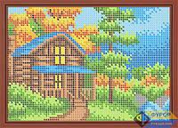 Схема для вышивки бисером - Домик в лесу у реки, Арт. ДБп5-097