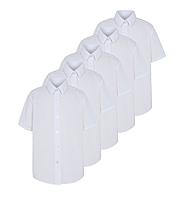 Школьная блуза-рубашка белая с коротким рукавом на девочку 5-6 лет George (Англия)