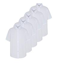 Школьная блуза-рубашка белая с коротким рукавом на девочку 6 лет George (Англия)