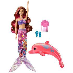 Кукла Барби Русалочка Русалка Волшебная трансформация Магия Дельфинов Barbie Dolphin Magic FBD64
