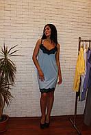 Платье комбинация с кружевом, фото 1