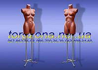 """Манекен торс """"Венера"""" ровная на двойной опоре (серебро, бронза, жемчуг)"""