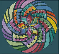 "Схема для вышивки бисером Мандала ""богатство"" (А2)"